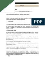 Administración de Personal, Bienestar y Clima Laboral