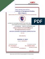 Mahindra&Mahindra Project Report