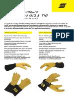 Gloves Curved Mig et Tig FR