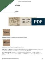 Efemérides Femeninas _ Mujeres Protagonistas