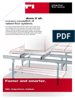 Integrated floor system