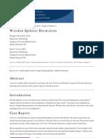 Wooden Splinter Dermatitis,  M. Chen & D. P. Sarma