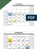 6th grade fall calendar - aug-sept