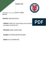 ENSAYO DE LO APRENDIDO DE MERCADOTECNIA PRINCIPALMENTE DE ESTRATEGIAS DE DISTRIB...