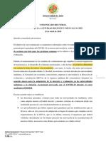Comunicado rectoral relativo a actividad docente y de evaluación 15-04-2020