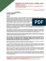 PROPUESTA SECTORIAL SALUD - X DR. DAVID TEJADA PARDO
