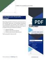Resultados Sistema Financiero de Panamá al mes Mayo 2020