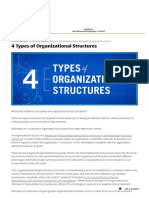 4 Types of Organizational Structures _ Point Park Online