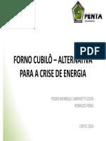 FORNO CUBILÔ - ALTERNATIVA PARA A CRISE DE ENERGIA