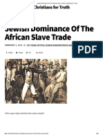 Jewish Dominance Of The African Slave Trade _ Christians for Truth