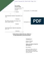 Weinstein Settlement Opposition Papers