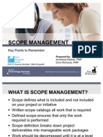 Key Points to Remember Scope Management Download