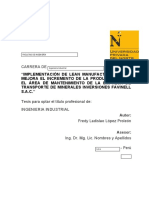 EMPRESA DE TRANSPORTE DE MINERALES INVERSIONES FAVINELL SAC
