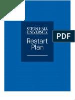 Seton Hall University Restart Plan