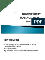 Investment Management Module 1