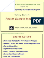 BENECO TCDP1 Vol 1 - Power System Modeling Part 1