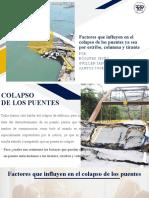FACTORES COLAPSO DEL PUENTE