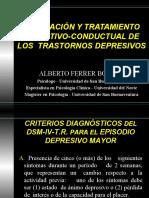 EVALUACIÓN Y TRATAMIENTO COGNITIVO-CONDUCTUAL DE LOS  TRASTORNOS DEPRESIVOS