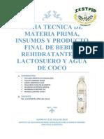 FICHA TECNICA DEL BEBIDA REHIDRATANTE 1