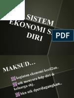 Sistem Ekonomi Sara Diri Sej2