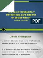 Límites investigación y Metodología para elaborar un estado del arte.pptx