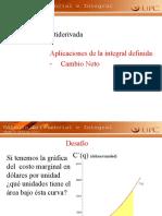 3.11 Aplicaciones de la integral Cambio Neto