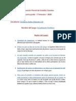 Evaluación Parcial de Estudios Sociales