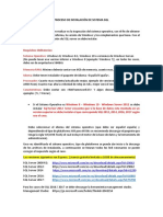 INSTALACIÓN DE SISTEMA SQL SERVER