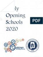 Safely Opening Schools plan - July 13, 2020