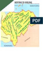 Mapa de Sieeras y Montañas de Honduras