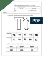 Español letra T 20-04-20