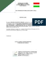 CERTIFICACIÒN DE CUMPLIMIENTO NOVIEMBRE 2016 1