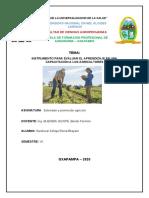 instrumento para evaluar el aprendizaje en una capacitación a los agricultores