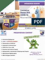 COVID-19 PRESENTATION - By  Ayukafangha Etando - Eswatini Medical Christian University
