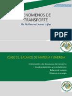 CLASE 01 2020-1 (1) FENOMENOS DE TRANSPORTE
