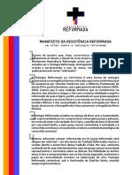Manifesto da Resistência Reformada