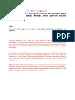 Business Correspondence Task
