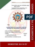 LABORATORIO R- UNIVARIADO Y BIVARIADO