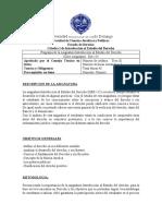 Programa Introducción al Estudio del Derecho, Der-115