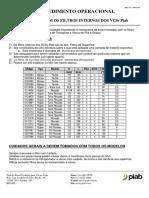 Procedimento - Cuidados com Filtros Internos de VCS - 170202-01