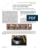 """Adaptation of the Local Ghanaian Caldron (""""Dadesen"""") for Drums Shells"""