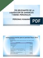 Conferencia Aspectos Relevantes Gcias y Bienes Personales P. Humanas 21.05.2019