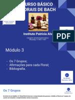 CURSO  BÁSICO FLORAIS DE BACH - 3º Módulo