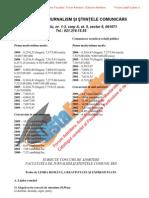 ListaFacultati.ro Subiecte Admitere Universitatea Bucuresti Jurnalism 2009