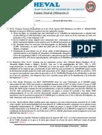 Examen Parcial Virtual Tributación II 2020 I