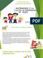 EDUCACIÓN RELIGIOSA PRESENTACION  CLASE  11 Y 12  DE MAYO