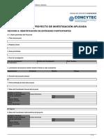 FORMATO DE PROYECTO DE INVESTIGACION APLICADA