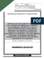 Ds 07-2016-Mtc Emision Licencias Conducir e Infracción M-40 Araper