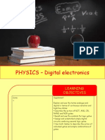 Physics 30 - Digital electronics