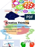 Creative Thinking in Classroom